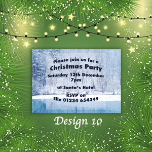 Aspire Designs Personalised Christmas Party Star Baubles Xmas Doo Invitations 10 / Yes