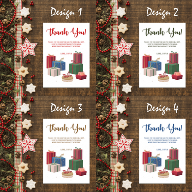 Aspire Designs Personalised Christmas Party Thank You Cards | Simple Gift Exchange