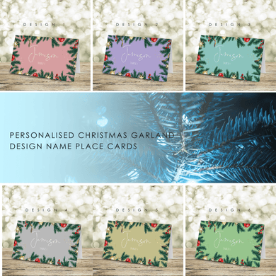 Aspire Designs Personalised Christmas Table Name Place Cards Christmas Ornaments Garland Design
