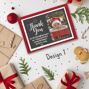 Aspire Designs Personalised Christmas Thank You Cards | Photo Thank You Cards 10 / Yes / Design 1