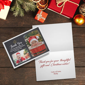 Aspire Designs Personalised Christmas Thank You Cards with Photos | Folded A6 Cards 1 / No / Yes