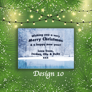 Aspire Designs Personalised Christmasy Merry Christmas Cards Xmas Postcards 10 / Yes