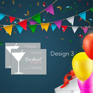 Aspire Designs Personalised Cocktail Birthday Party Invitations | Party Invites 10 / Yes