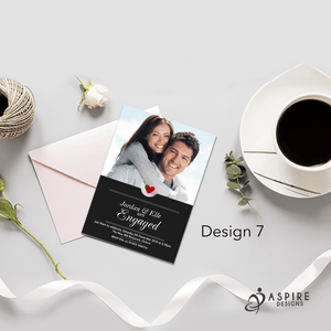 Aspire Designs Personalised Contemporary Engagement Party / Announcement Invitations 10 / Yes
