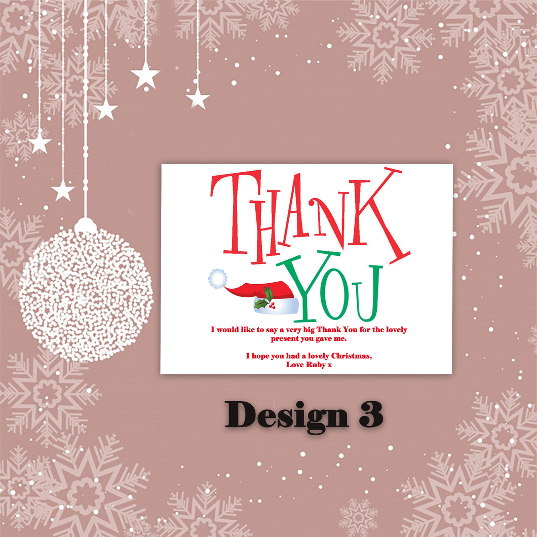 Aspire Designs Personalised Cool Christmas Xmas Thank You Festive Cards 10 / Yes