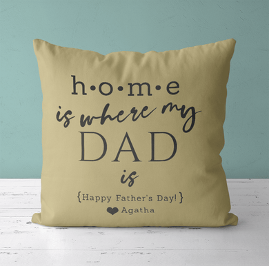 Aspire Designs Personalised Cushion Cover & Pillow Insert | Father's day Inspired | Gift Idea Butter Cream / No