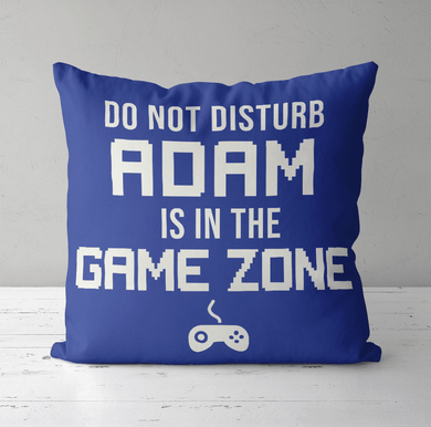 Personalised Cushion Cover & Pillow Insert | Game Zone Cushion | Gift Ideas