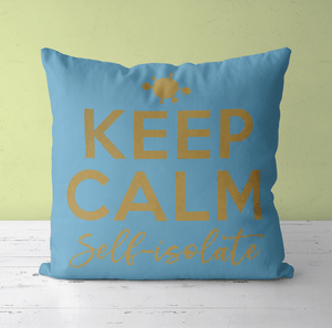Aspire Designs Personalised Cushion Cover & Pillow Insert | KEEP CALM Self-isolate | Gift Ideas Forgetmenot / No