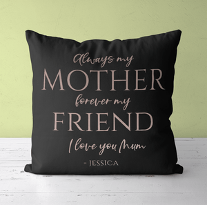 Aspire Designs Personalised Cushion Cover & Pillow Insert | Mummy Mother's Day Cushion | Gift Idea Black / No