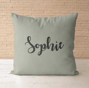 Aspire Designs Personalised Cushion Cover & Pillow Insert | Simple Name Text | Cute Gift Idea