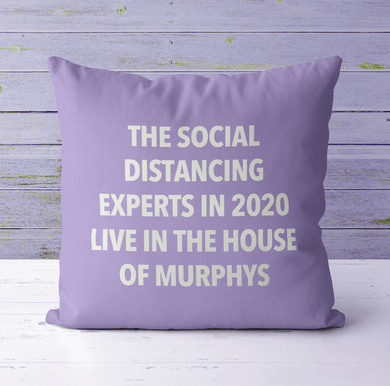 Aspire Designs Personalised Cushion Cover & Pillow Insert | Social Distancing Experts | Cute Gift Idea Lilac / No