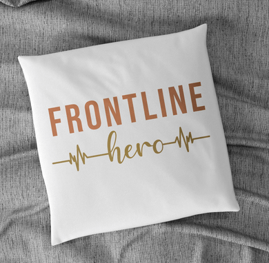 Aspire Designs Personalised Cushion Pillow & Insert - Frontline Hero Text Pillow Cushion