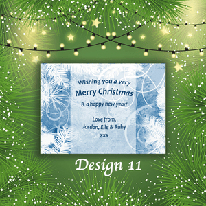 Aspire Designs Personalised Cute Merry Christmas Cards Xmas Postcards 10 / Yes