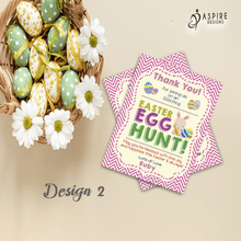 Load image into Gallery viewer, Aspire Designs Personalised Easter Egg Hunt Party Thank You Cards | Easter Thank You Notes 10 / Yes / Design 2