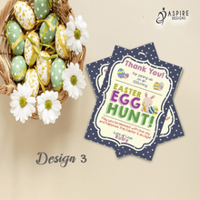 Load image into Gallery viewer, Aspire Designs Personalised Easter Egg Hunt Party Thank You Cards | Easter Thank You Notes 10 / Yes / Design 3