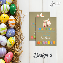 Load image into Gallery viewer, Aspire Designs Personalised Easter Egg Hunt Party Thank You Cards | Favour Notes 10 / Yes / Design 2