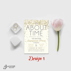Aspire Designs Personalised Engagement Party Invitations | Engagement Announcement 10 / Yes / Design 1