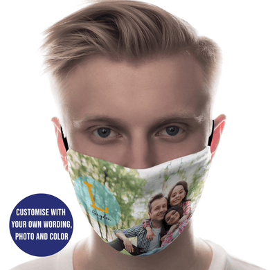 Aspire Designs Personalised Face Mask Washable Reusable Protective Covering | Photo Theme