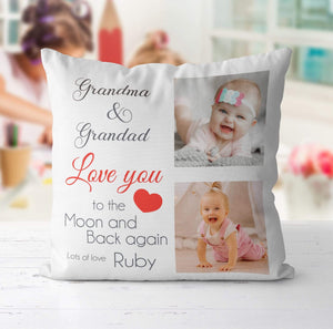 Aspire Designs Personalised Family Grandma Grandad Mum Dad Photo Cushion Pillow | Gift Idea Yes / Single Sided