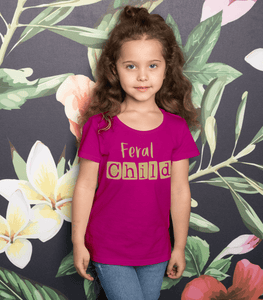 Aspire Designs Personalised Feral Child Kid's t-shirt | Cute Gift Idea Kids Boys Girls