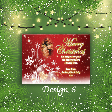 Aspire Designs Personalised Festive Photo Merry Christmas Cards Xmas Postcards 10 / Yes