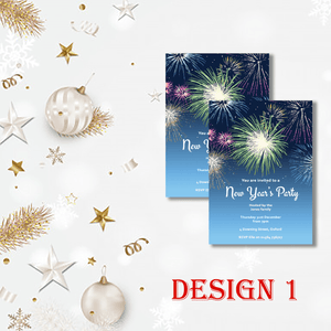 Aspire Designs Personalised Firework New Years Eve Party Celebration Invitations 10 / Yes