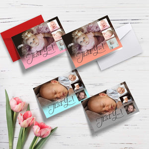 Aspire Designs Personalised Folded Christening Thank You Cards  with Photos | Folded A5 Cards 1 / No / Yes
