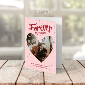 Aspire Designs Personalised Forever My Valentine Greeting Cards | Valentine Greeting Cards