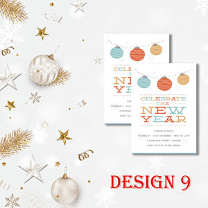 Aspire Designs Personalised Fun New Years Eve Party Celebration Invitations 10 / Yes