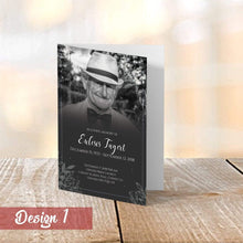 Load image into Gallery viewer, Personalised Funeral Order of Service Cards | A5 Folded Program Booklet