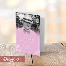 Load image into Gallery viewer, Aspire Designs Personalised Funeral Order of Service Cards | A5 Folded Program Booklet 1 / No / Yes