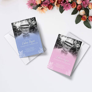 Personalised Funeral Order of Service Cards | A5 Folded Program Booklet