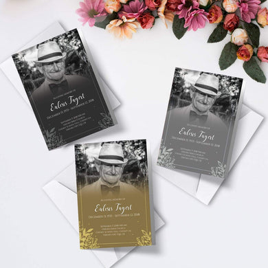 Personalised Funeral Order of Service Cards | A6 Folded Program Booklet