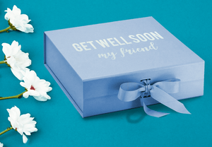 Aspire Designs Personalised Get Well Soon Medium / Large Gift Box | Message Present Keepsake Boxes