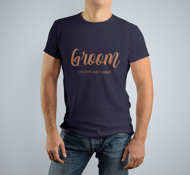 Aspire Designs Personalised Groom T Shirt Groom Squad T-Shirt For Men