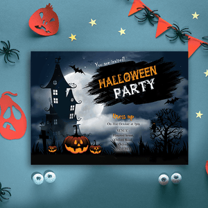 Aspire Designs Personalised Halloween Party Invitations | Kids Halloween Invites 10 / Yes