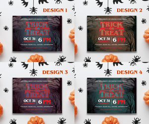 Aspire Designs Personalised Halloween Party Invitations | Stranger Things Inspired