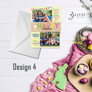 Aspire Designs Personalised Happy Easter Postcard with Photos | Flat Greeting Cards 10 / Yes / Design 4