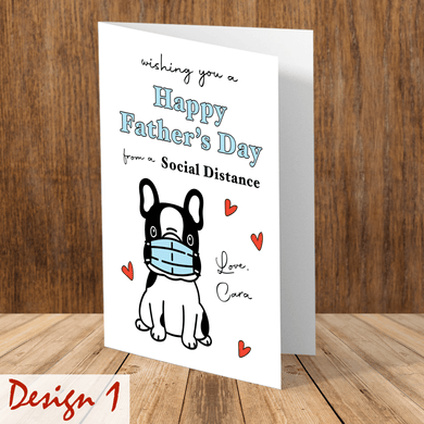 Aspire Designs Personalised Happy Father's Day Social Distance Greeting Card | Father's Day