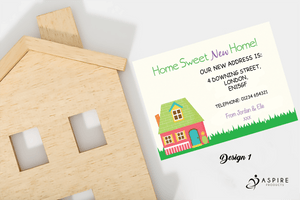 Aspire Designs Personalised Home Sweet Home Change of Address Cards