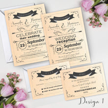 Load image into Gallery viewer, Aspire Designs Personalised Invitation Set | Day/Evening Invite, RSVP & Info Cards 10 / Yes / Invitation Only