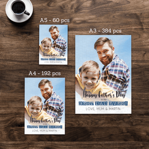 Aspire Designs Personalised Jigsaw Puzzle Best Dad Ever Father's Day  Gift - A5 A4 A3 - 60, 192 or 384 pieces