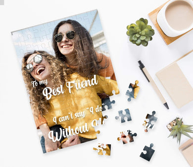 Aspire Designs Personalised Jigsaw Puzzle Best Friend Photo - A5 A4 A3 - 60, 192 or 384 pieces