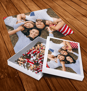 Aspire Designs Personalised Jigsaw Puzzle with Customised Box - Kids Family Photo Gift Idea