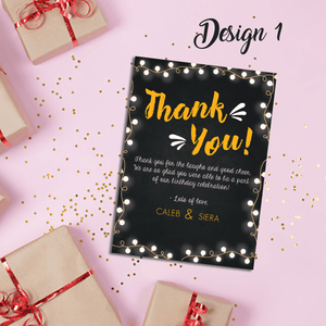 Aspire Designs Personalised Joint Adult Birthday Party Thank You Cards 10 / Yes / Design 1