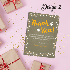 Aspire Designs Personalised Joint Adult Birthday Party Thank You Cards 10 / Yes / Design 2