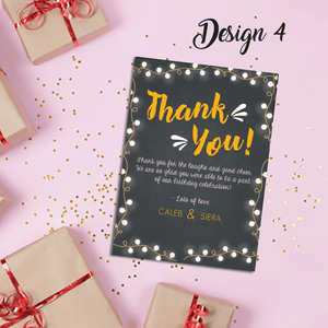 Aspire Designs Personalised Joint Adult Birthday Party Thank You Cards 10 / Yes / Design 4