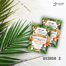 Load image into Gallery viewer, Aspire Designs Personalised Jungle Safari Animal Kids Birthday Party Invitations 10 / Yes / Design 2