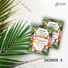 Load image into Gallery viewer, Aspire Designs Personalised Jungle Safari Animal Kids Birthday Party Invitations 10 / Yes / Design 4