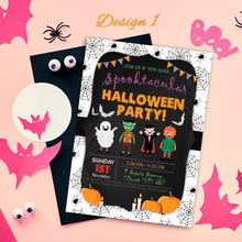 Load image into Gallery viewer, Aspire Designs Personalised Kids Halloween Invitations | Trick or Treat Party 10 / Yes / Design 1
